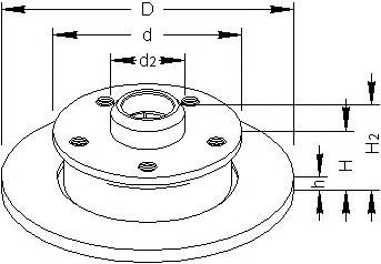 Disc frana SEAT TOLEDO  (1L), VW PASSAT (3A2, 35I), VW PASSAT Variant (3A5, 35I) - TOPRAN 103 527