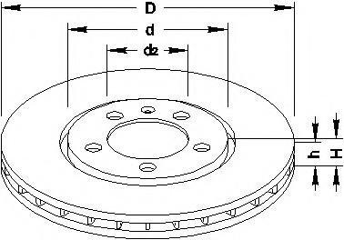 Disc frana SEAT TOLEDO  (1L), VW PASSAT (3A2, 35I), VW PASSAT Variant (3A5, 35I) - TOPRAN 103 071
