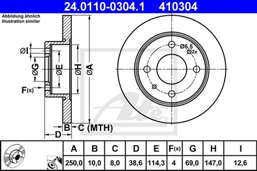 DISC FRANA SPATE - ATE - 24.0110-0304.1