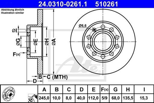 DISC FRANA SPATE POWER - ATE - 24.0310-0261.1