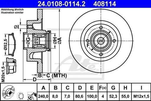 DISC FRANA SPATE Stanga/DR - ATE - 24.0108-0114.2