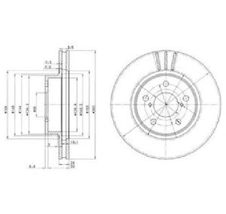 Disc frana SUBARU IMPREZA COMBI ( GG ) 10/2000 - 2019 - piesa NOUA - producator DELPHI BG2767 - 304720