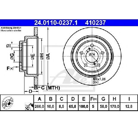 Disc frana SUBARU IMPREZA limuzina GC PRODUCATOR ATE 24.0110-0237.1
