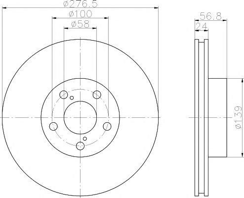 Disc frana SUBARU LEGACY/IMPREZA/FORESTER 03-/08- 277MM - OEM-TEXTAR: 92094603|T 92094603 - Cod intern: W02037523 + Cadou - spray pentru curatat frane marca TEXTAR, flacon 500ml!