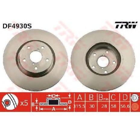 Disc frana SUBARU TRIBECA B9 PRODUCATOR TRW DF4930S