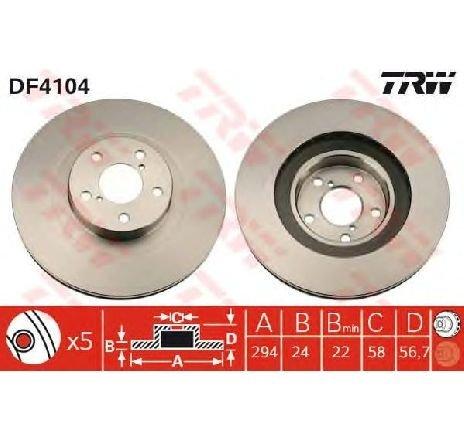 Disc frana SUBARU XV PRODUCATOR TRW DF4104