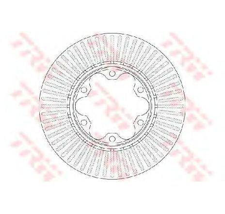 Disc frana TOYOTA HIACE IV BUS ( LH1 ) 08/1995 - 2019 - producator TRW DF6481 - 301512 - Piesa Noua