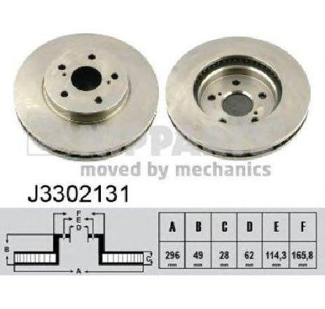 Disc frana TOYOTA PREVIA ( MCR3, ACR3, CLR3 ) 02/2000 - 01/2006 - piesa NOUA - producator NIPPARTS J3302131 - 304646