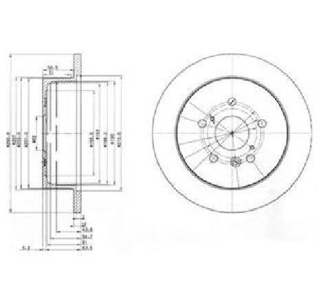 Disc frana TOYOTA PREVIA ( MCR3, ACR3, CLR3 ) 02/2000 - 01/2006 - piesa NOUA - producator DELPHI BG3779 - 304646