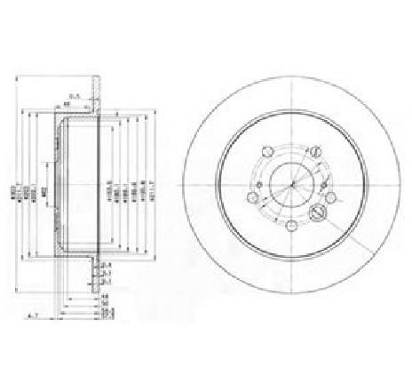 Disc frana TOYOTA RAV 4 II ( CLA2, XA2, ZCA2, ACA2 ) 06/2000 - 11/2005 - piesa NOUA - producator DELPHI BG3691 - 304649