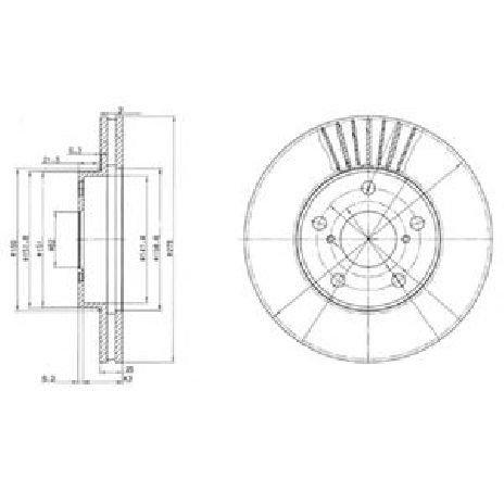 Disc frana TOYOTA RAV 4 II ( CLA2, XA2, ZCA2, ACA2 ) 06/2000 - 11/2005 - piesa NOUA - producator DELPHI BG3856 - 304649