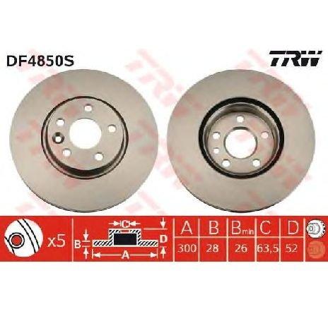 Disc frana VOLVO V60 09/2010 - 2019 - producator TRW DF4850S - 309124 - Piesa Noua