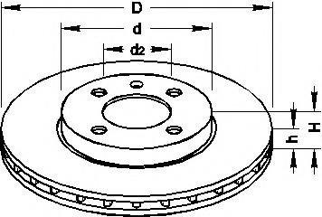 Disc frana VW ATLANTIC I (16), AUDI FOX (80, 82, B1), AUDI 4000 (81, 85, B2) - TOPRAN 103 407