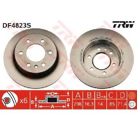 Disc frana VW CRAFTER 30-35 BUS ( 2E ) 04/2006 - 2019 - piesa NOUA - producator TRW DF4823S - 305528