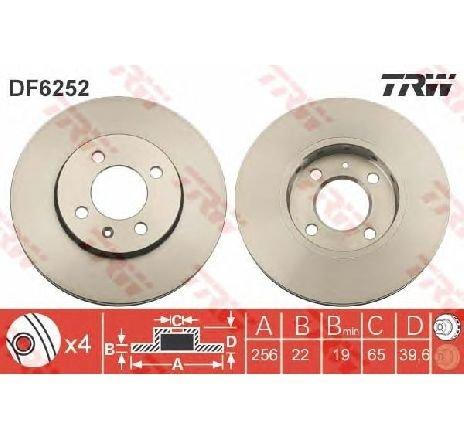 Disc frana VW LOAD UP ( US ) 12/2014 - 2019 - producator TRW DF6252 - 336247 - Piesa Noua
