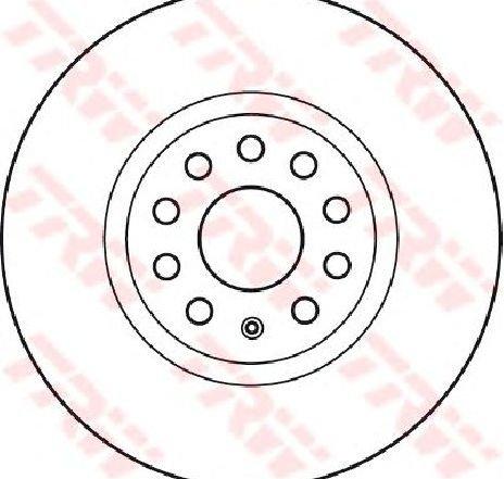 Disc frana VW PASSAT ALLTRACK ( 3G5 ) 05/2015 - 2019 - producator TRW DF4464S - 314622 - Piesa Noua