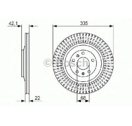 Disc frana VW PHAETON ( 3D ) 04/2002 - 2019 - piesa NOUA - producator BOSCH 0 986 479 591 - 304876