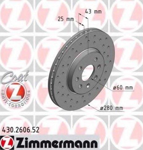 Discuri Frana Fata Opel Astra H 4 Prezoane ZIMMERMANN 420LEI
