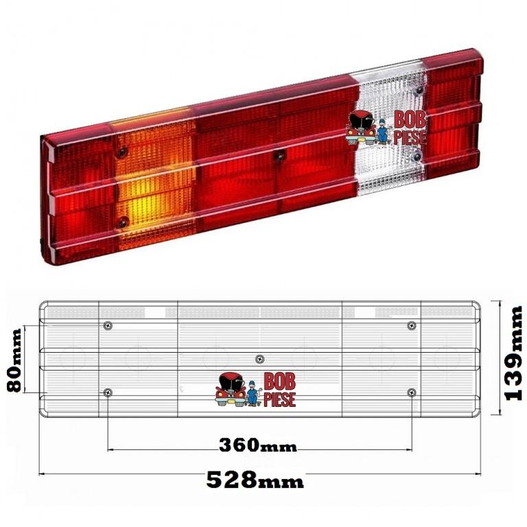 Dispersor geam lampa stop tripla spate stanga Mercedes Atego | Livrare Rapida | Piese Noi