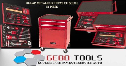 Dulap metalic pentru scule echipat cu 51 piese
