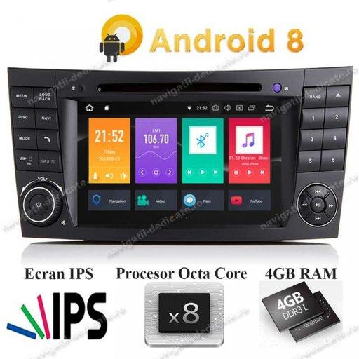 DVD AUTO Navigatie Android Mercedes BENZ E CLASS W211 CLS W219 INTERNET NAVD-P090