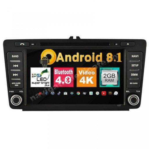 """Dvd Gps Auto Navigatie ANDROID SKODA OCTAVIA 2 ECRAN 8"""" Internet Carkit NAVD-MT9725"""
