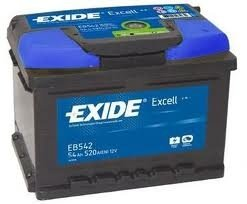 Eb542 baterie exide excell 54ah
