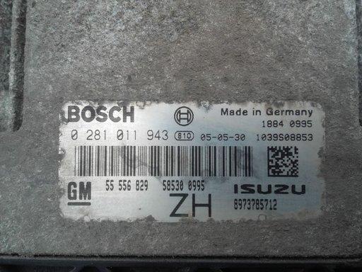 ECU Calculator motor Opel Astra H 1.7 CDTI ISUZU cod BOSCH 0281011943 GM 55556829