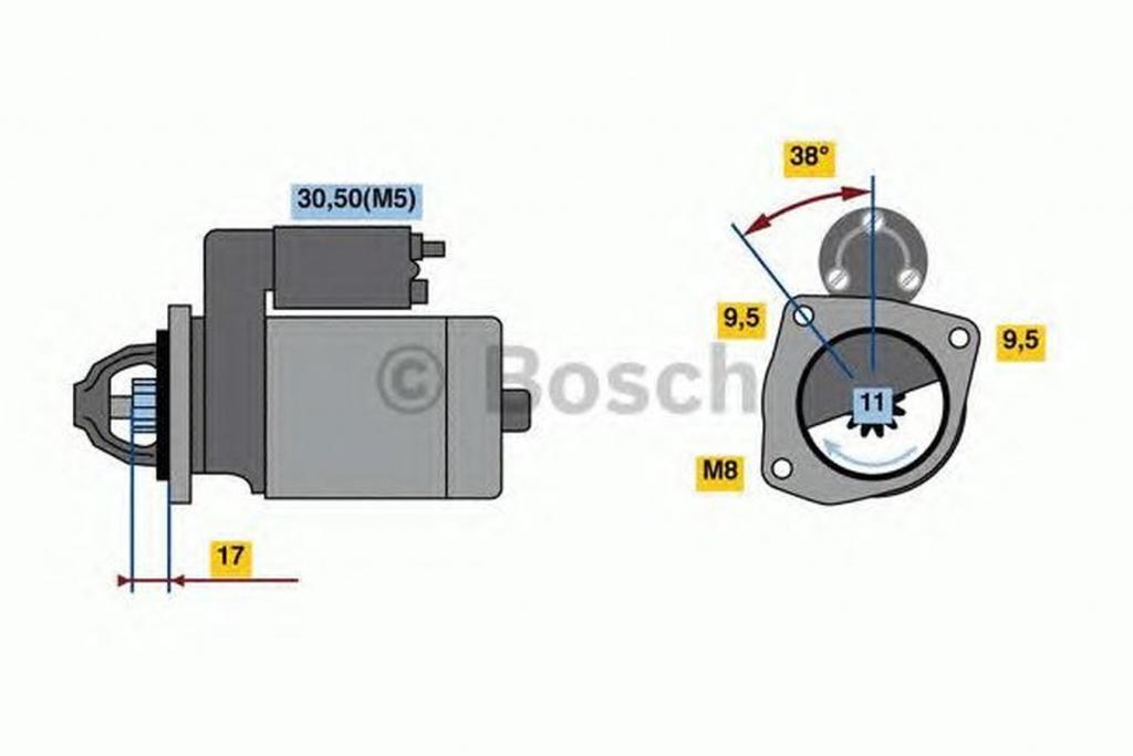 Electromotor CITROEN C3 II BOSCH 0986023580