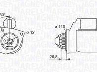 Electromotor FIAT ARGENTA (132A) MAGNETI MARELLI 063217154010