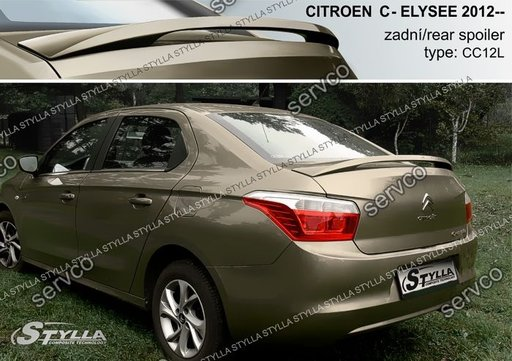Eleron adaos capota portbagaj tuning sport Citroen C-Elysee 2012-2018 v1