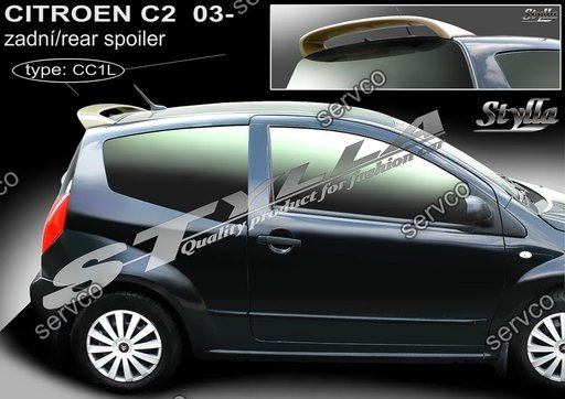 Eleron haion luneta tuning sport Citroen C2 VTS Gti Vti Rally 2003-2009 v1
