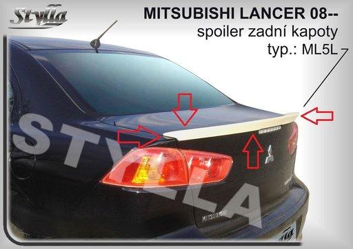 Eleron spoiler portbagaj Mitsubishi Lancer GTS Evo X CY2A CZ4A ver2