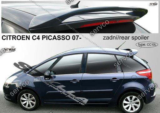 Eleron spoiler tuning sport Citroen C4 Piccaso VTS Vti Vts 2006-2014 ver3