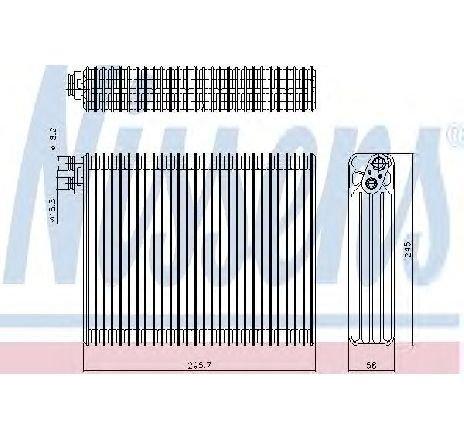 Evaporator, aer conditionat BMW X5 ( E53 ) 05/2000 - 12/2006 - piesa NOUA - producator NISSENS 92299 - 304343
