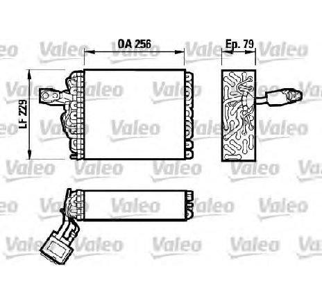 Evaporator, aer conditionat VW CADDY II COMBI ( 9K9B ) 11/1995 - 01/2004 - producator VALEO 817032 - 305393 - Piesa Noua