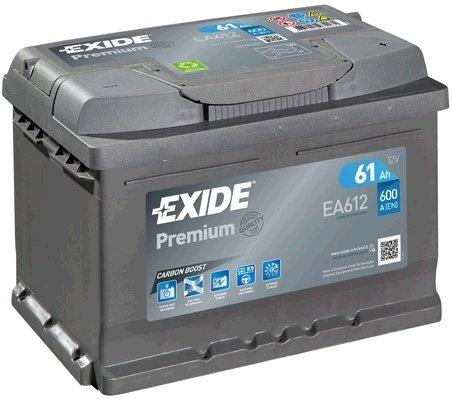 Exide premium 61ah 600a 242X175X175 +DR
