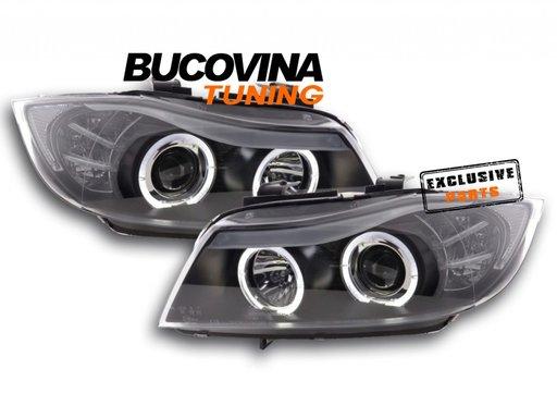 FARURI ANGEL EYES LED BMW E90/ E91 (05-11) BLACK