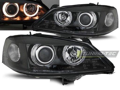 Faruri Angel Eyes pentru Opel Astra G