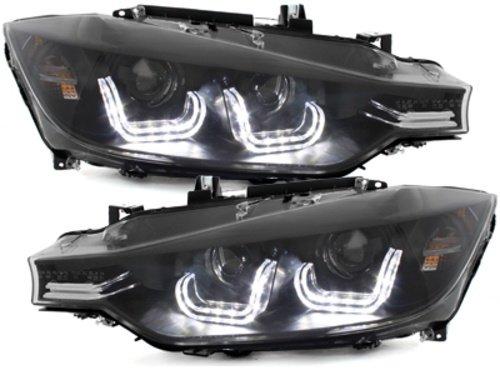 Faruri LED BMW F30/F31 12+ Seria 3 Xenon Look Negru