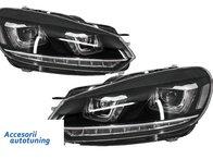 Faruri LED Volkswagen VW Golf 6 VI (2008-up) Design Golf 7 3D U Design Semnal LED Dinamic