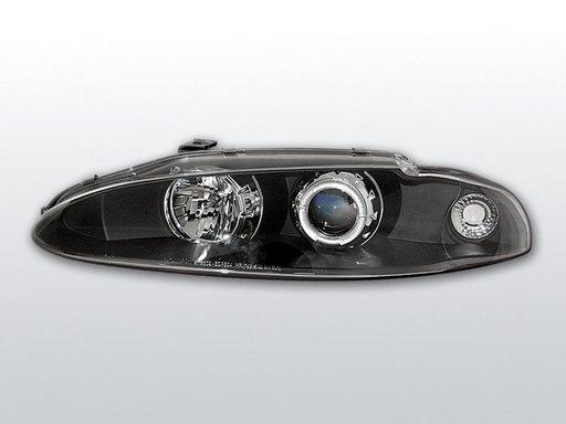 Faruri Mitsubishi Eclipse angel eyes Negru