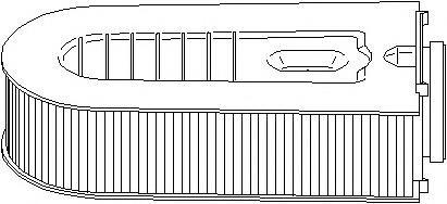 Filtru aer MERCEDES-BENZ C-CLASS limuzina (W204),