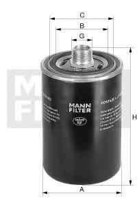 Filtru hidraulic, cutie de viteze automata Producator MANN-FILTER WD 940/4