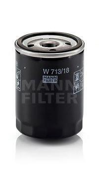 Filtru ulei Mann W713/18 Opel Kadett E Combo (38_, 48_) Kadett E Caroserie (37_, 47_) Kadett E Combi (35_, 36_, 45_, 46_) Ascona C (81_, 86_, 87_, 88_