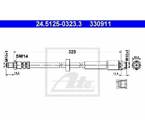 Furtun frana AUDI A6 4F2 C6 PRODUCATOR ATE 24.5125-0323.3