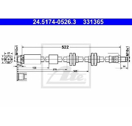 Furtun frana BMW 3 Touring E91 PRODUCATOR ATE 24.5174-0526.3