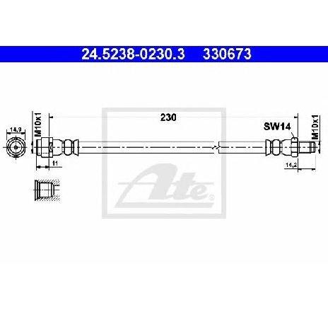 Furtun frana MERCEDES-BENZ A CLASS W169 PRODUCATOR ATE 24.5238-0230.3