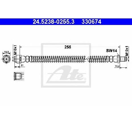 Furtun frana MERCEDES-BENZ S CLASS W220 PRODUCATOR ATE 24.5238-0255.3