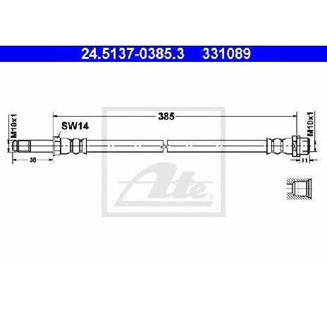 Furtun frana MERCEDES-BENZ SPRINTER 3 5 t bus 906 PRODUCATOR ATE 24.5137-0385.3